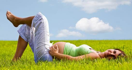 Immersing yourself in peaceful scenery is good for you and your fetus.