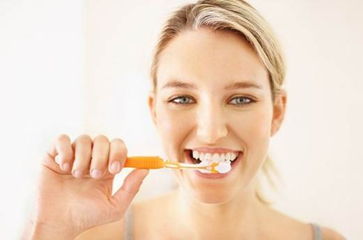 • Brush your teeth with a softer tooth