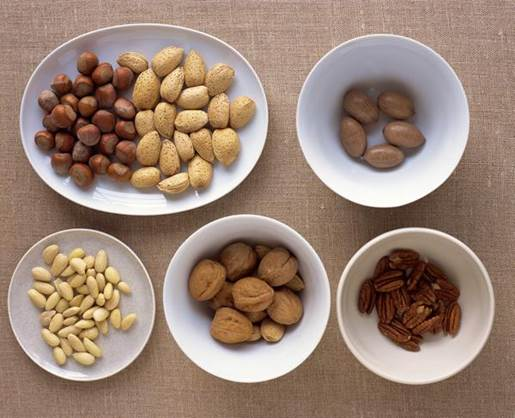 Walnuts and almonds are wonderful choice for a light snack.