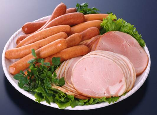 When drinking alcohol, you should eat foods but salted fishes, sausages and bacon that contain conserving agents.