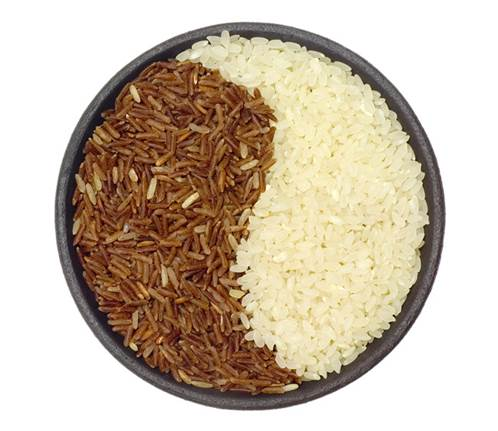 We just eat brown rice at the same amount of the regular rice we used to eat.