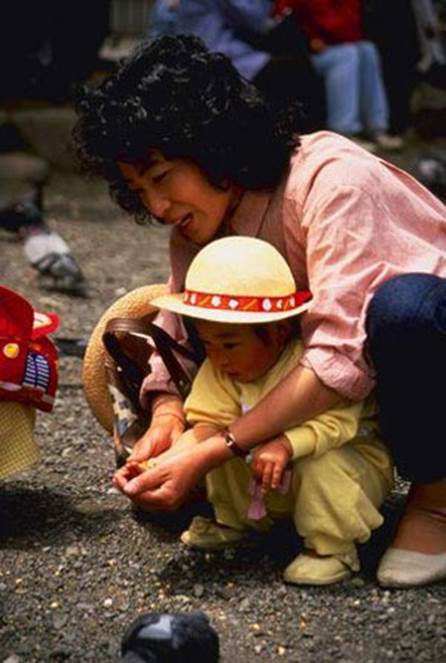 I have witnessed many views that are typical for the patience of Japanese moms.