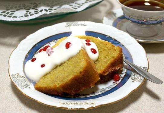 Lavender- citrus polenta cake