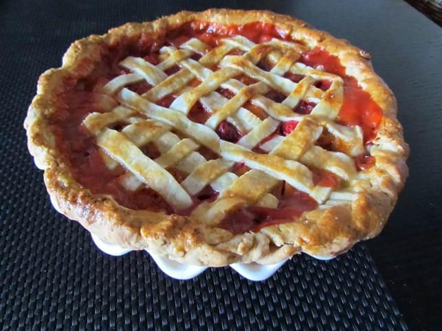 Apricot & Ginger Lattice Pie