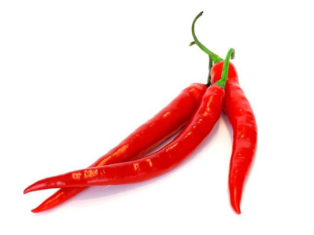 3 red capsicums