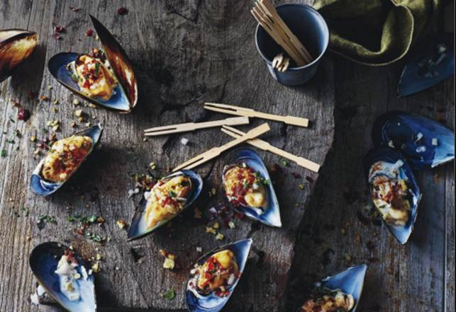 Mussels With Alioli And Jamon Migas (Crumbs)