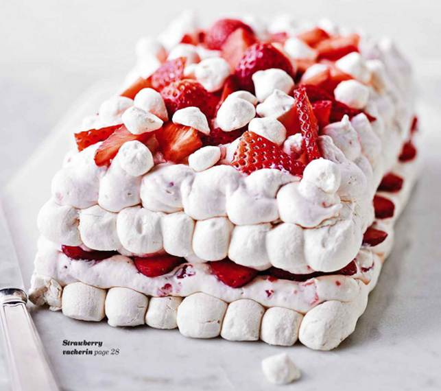 Strawberry vacherin
