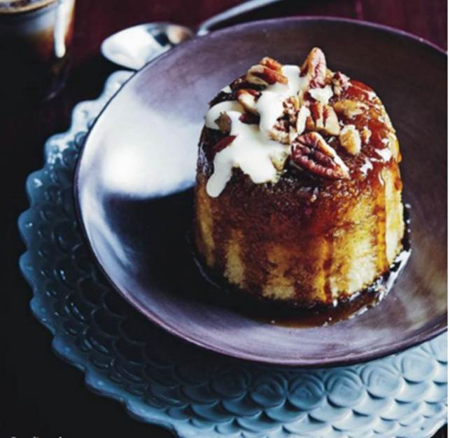 Pouding Chomeur  (maple & pecan pudding)