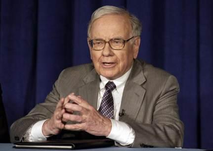 Description: Billionaire Warren Buffett works hard all his life