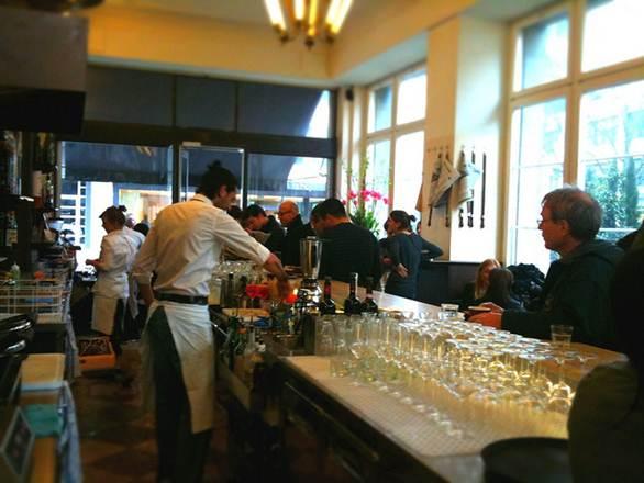 Description: La Stanza, the popular espresso bar, just off Pradeplatz, brings an Italian flavor to the heart of the financial district