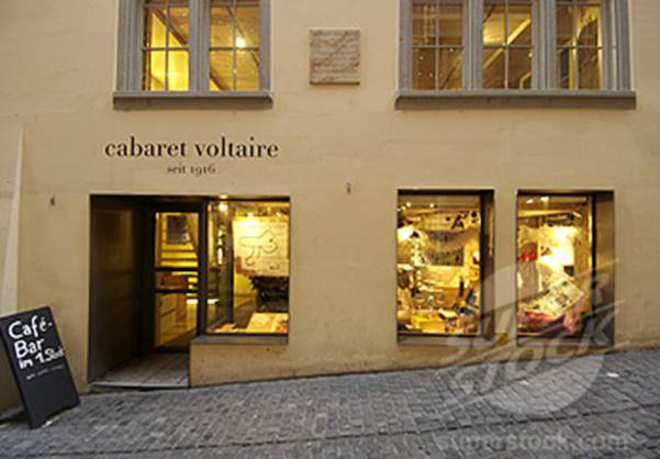 Description: Cabaret Voltaire - Founded in 1916 as a platform for artistic and political ideas