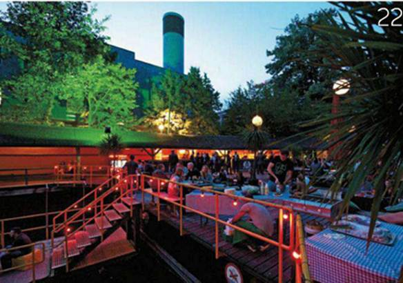 Description: Lidos by night - Three of the city's lidos turn into fun, relaxed, open-air bars when the sun goes down