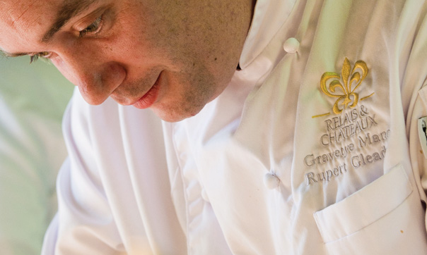 Description: Executive chef Rupert Gleadow uses ingredients from the kitchen garden whenever possible for his excellent Modern British cuisine