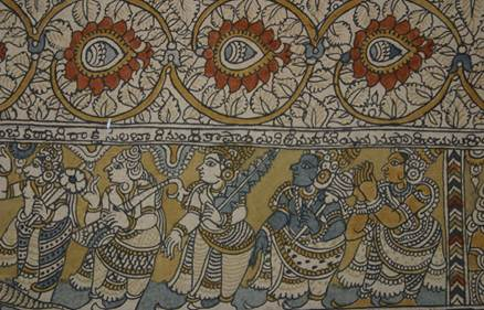 Description: Kalamkari textiles