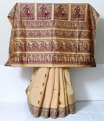 Description: baluchari weaving techniques from West Bengal