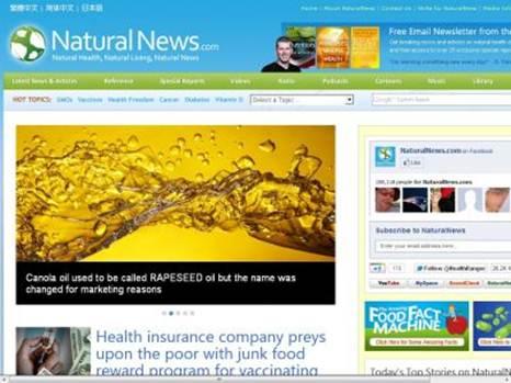 Description: Website: naturalnews.com
