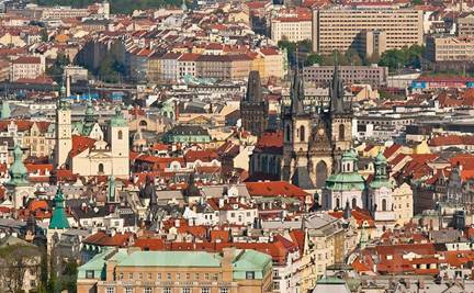 Description: Overlooking the historic Old Town in Prague, UNESCO World Heritage Site, Bohemia, Czech Republic