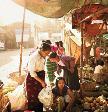 Description: Nyaung U Market in Bagan