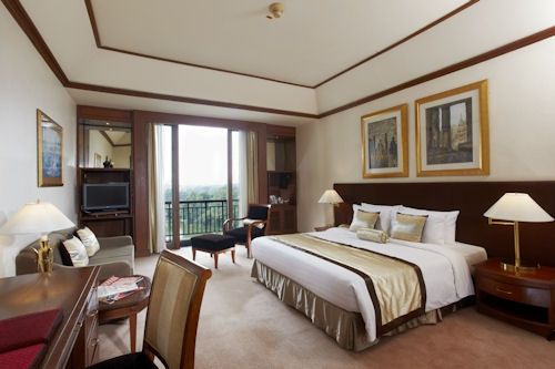 Description: A bed room - the Chatrium Hotel Royal Lake Yangon