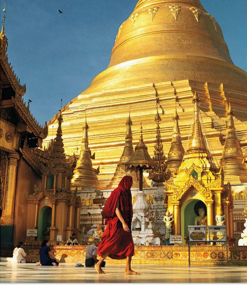 Description: Shwedagon Pagoda in Rangoon
