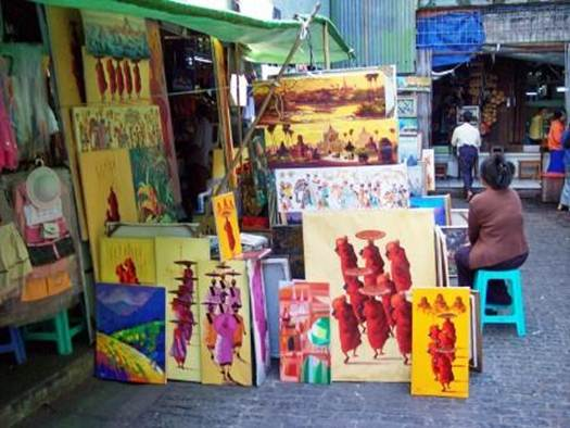 Description: Myanmar has a tradition of crafting beautiful things. Take a picture of the crafter making what you purchase