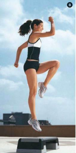 Description: Step-up to Knee lift jump