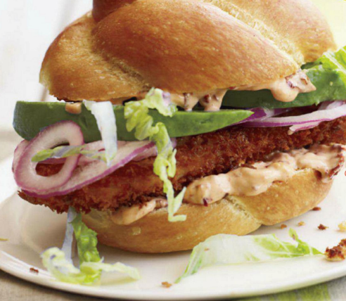 Description: Chipotle Fried-Chicken Sandwiches