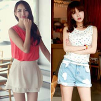 Description: Choose sleeveless t-shirt for summer days