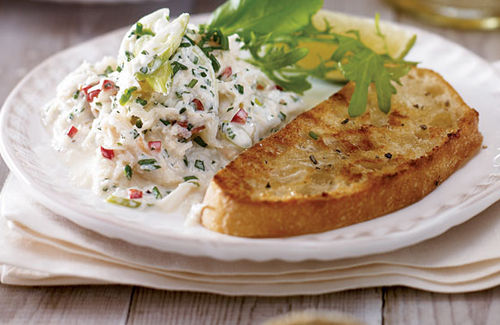 Description: Crab Salad Toasts
