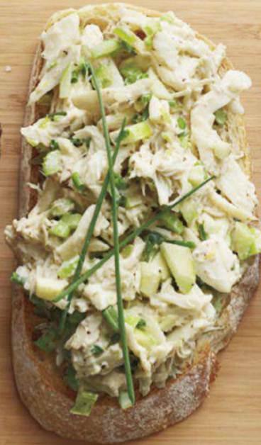 Description: Crab salad toasts