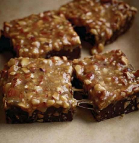 Description: Flourless caramel-almost brownies