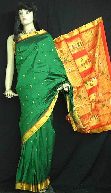 Description: Vidya Balan in a Kanjivaram; the sari's jewel tones are iconic