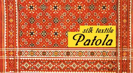 Description: The Patola sari features motifs like paan, raas, elephants and peacocks