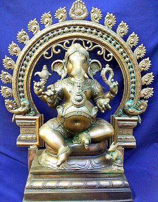 Description: Ganesha Brass Figures