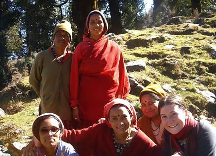 Description: Chaya and Indian women