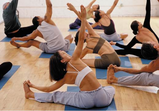 Description: The yoga class