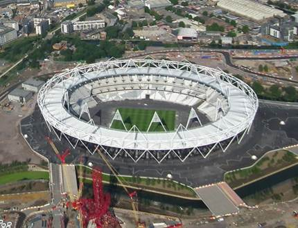 Description: the Olympic Park in East London