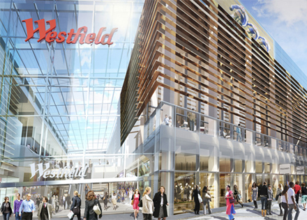 Description: Newly opened Westfield doubles up as the gateway to the Olympic Park