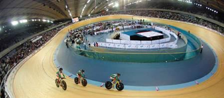 Description: the Olympic Park Velodrome