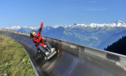 Description: Switzerland's longest summer toboggan run
