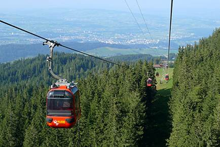 Description: Gondolas from Mount Pilatus to Lucerne