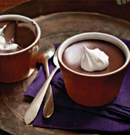 Description: Mocha pots de crème