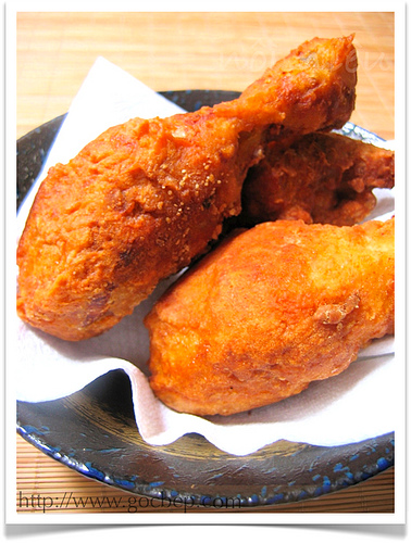 Description: 2. Heat 1 tbsp of the olive oil in a frying pan until hot and fry the chicken pieces over a medium-high heat until they're browned on all sides.
