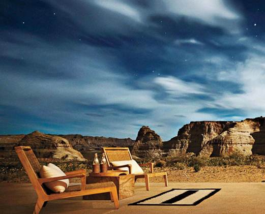 Description: The night sky over Amangiri, a 600-acre desert estate in Utah