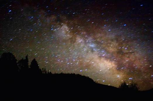Description: There are star-spangled night skies in Wyoming too, notably above Spring Creek Ranch on the edge of the Teton mountains, neat Jackson Hole valley