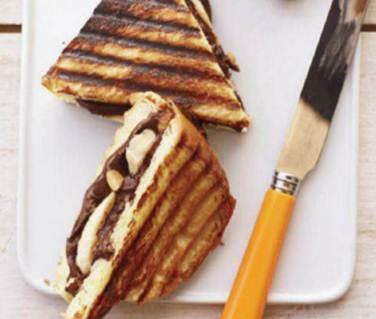 Description: Nutella & Banana on Challah
