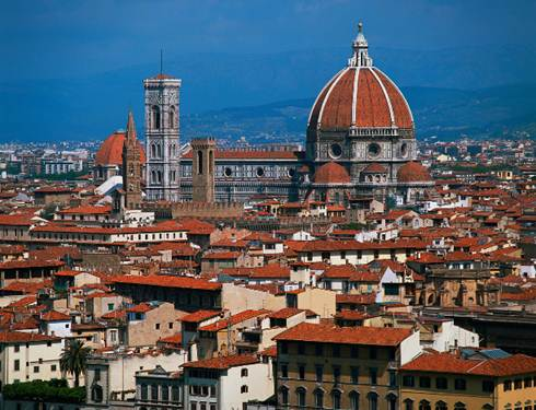 Description: View of Florence, Italy