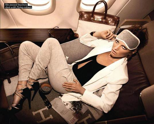 Description: She passed business class with flying colors