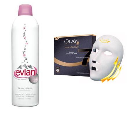 Description: Evian Facial Spray Atomiser, Olay Total Effects Mask