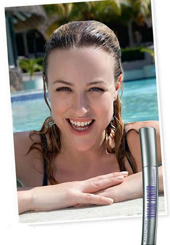 Description: Magic mascara (that stays on in the pool)